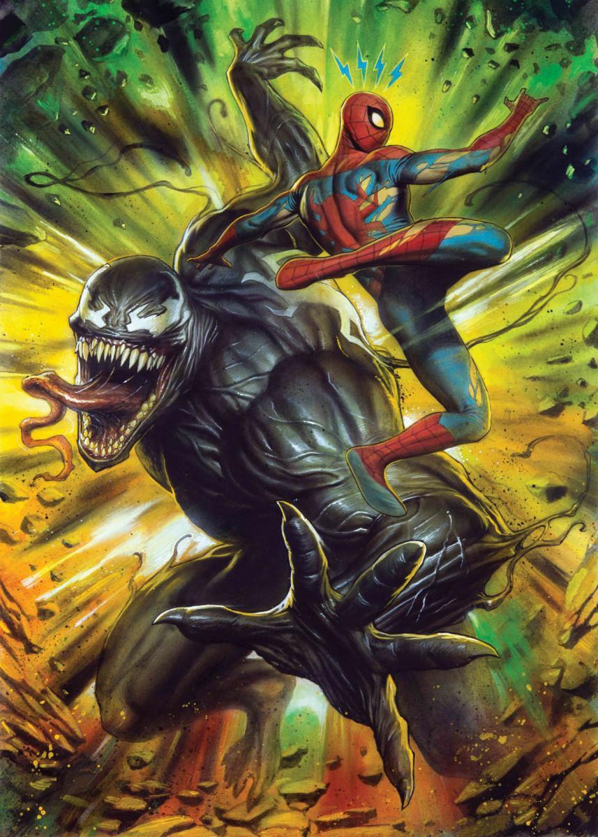 MARVEL VENOM - Magnetic Metal Poster 31x21 - Venom vs Spiderman_1
