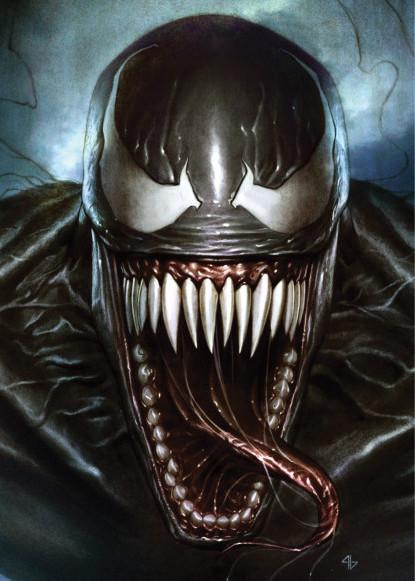 MARVEL VENOM - Magnetic Metal Poster 31x21 - Superhero