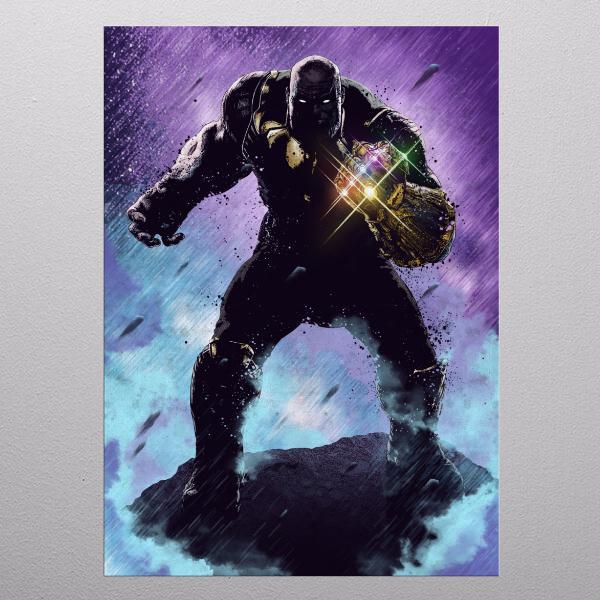 MARVEL DARK EDITION - Magnetic Metal Poster 31x21 - Thanos