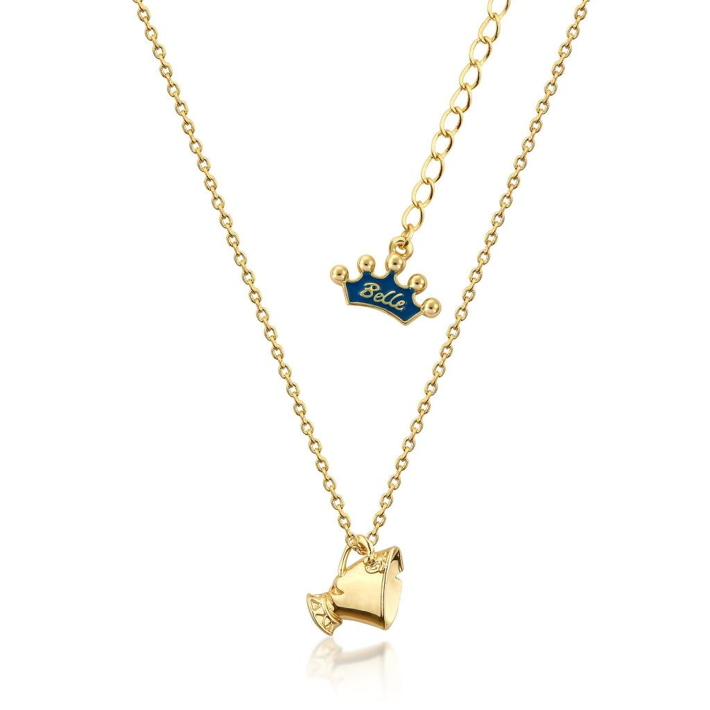 BEAUTY & THE BEAST - Chip Junior Necklace 'Gold Plated'