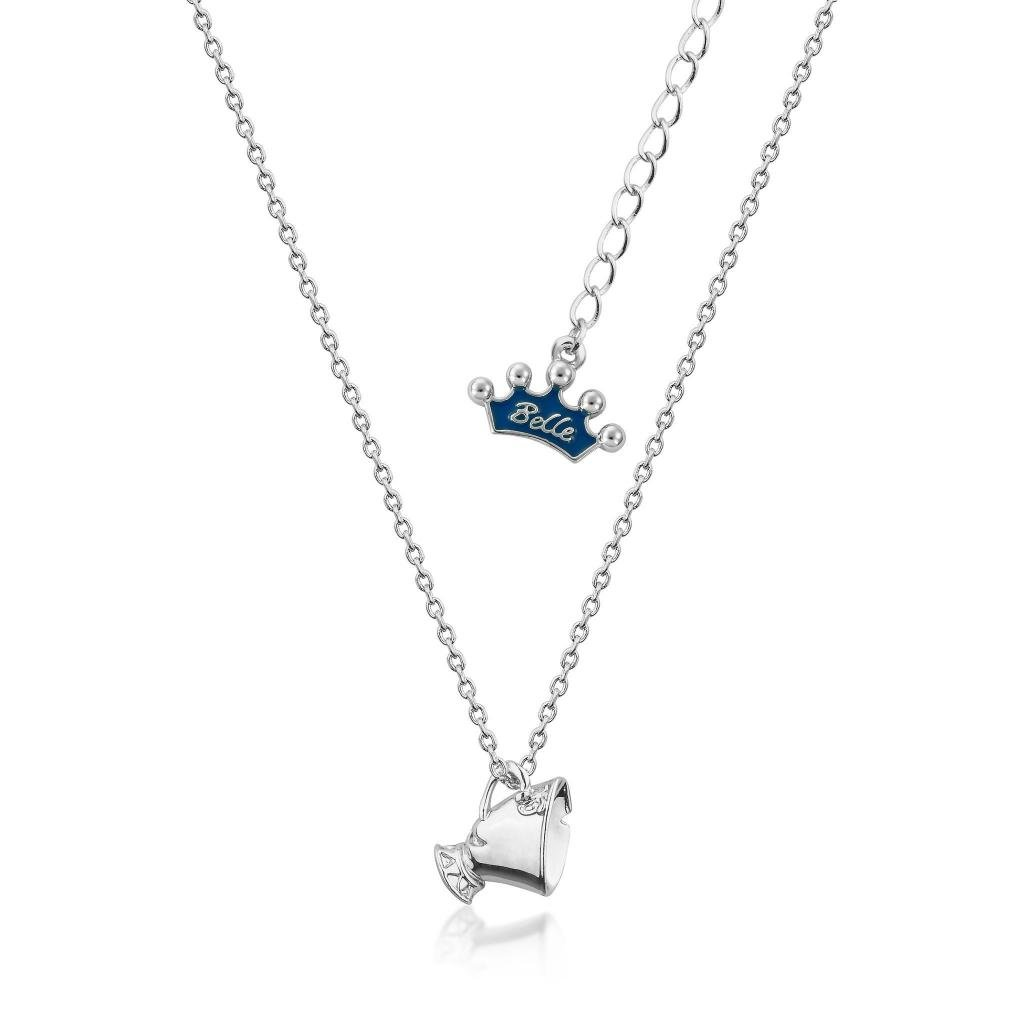 BEAUTY & THE BEAST - Chip Junior Necklace 'White Gold Plated'