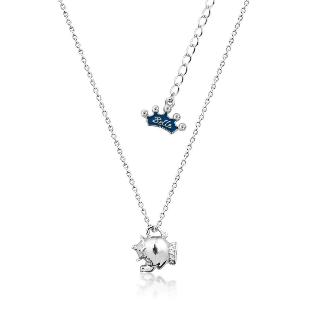 BEAUTY & THE BEAST - Mrs Potts Junior Necklace 'White Gold Plated'_1