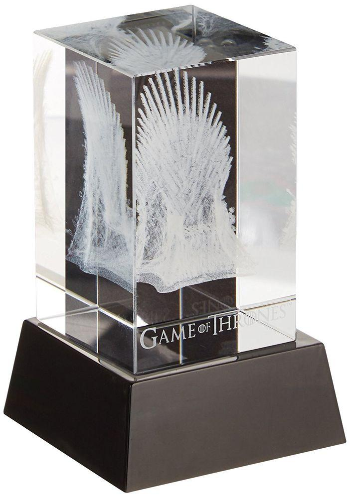 GAME OF THRONES - Iron Throne 3D Crystal With Illumination Base_1