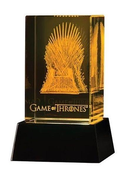 GAME OF THRONES - Iron Throne 3D Crystal With Illumination Base_2