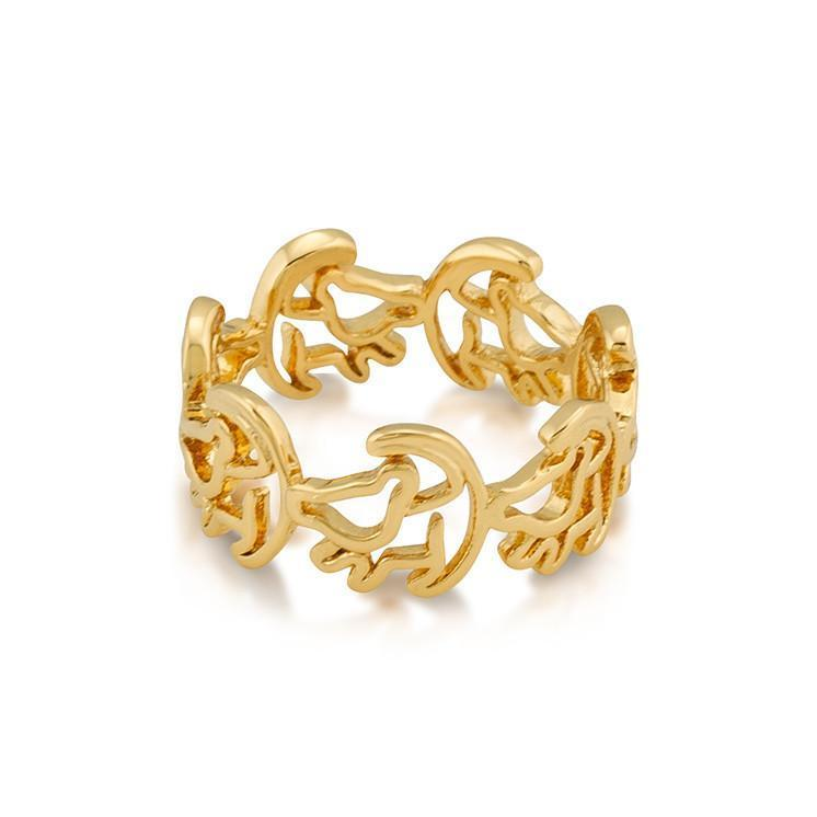 LION KING - Simba Ring 'Gold Plated' (Size 6)