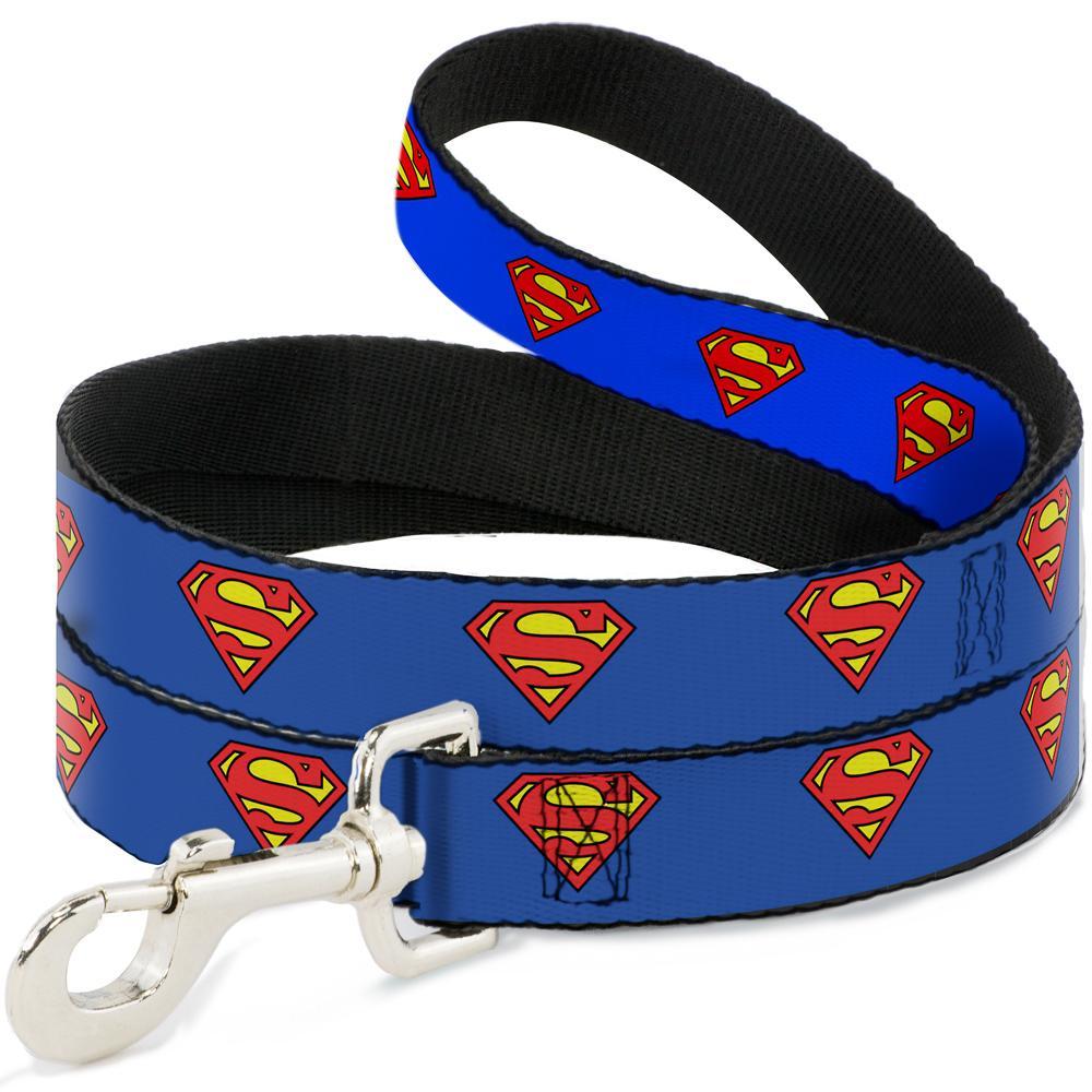 SUPERMAN - Laisse pour Chien 1,2 M - 2,5 Cm - Blue/Logo