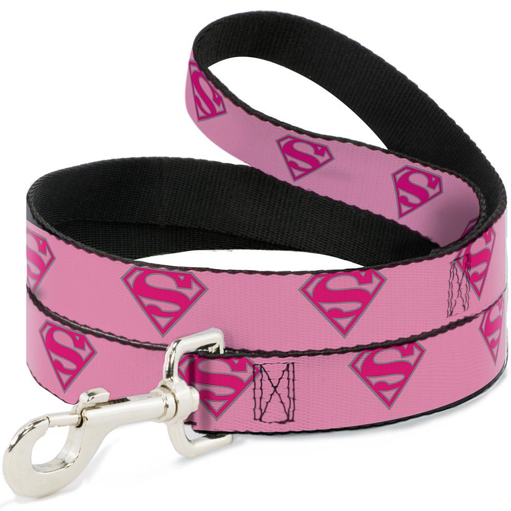 SUPERMAN - Laisse pour Chien 1,2 M - 2,5 Cm - Pink/Logo_2
