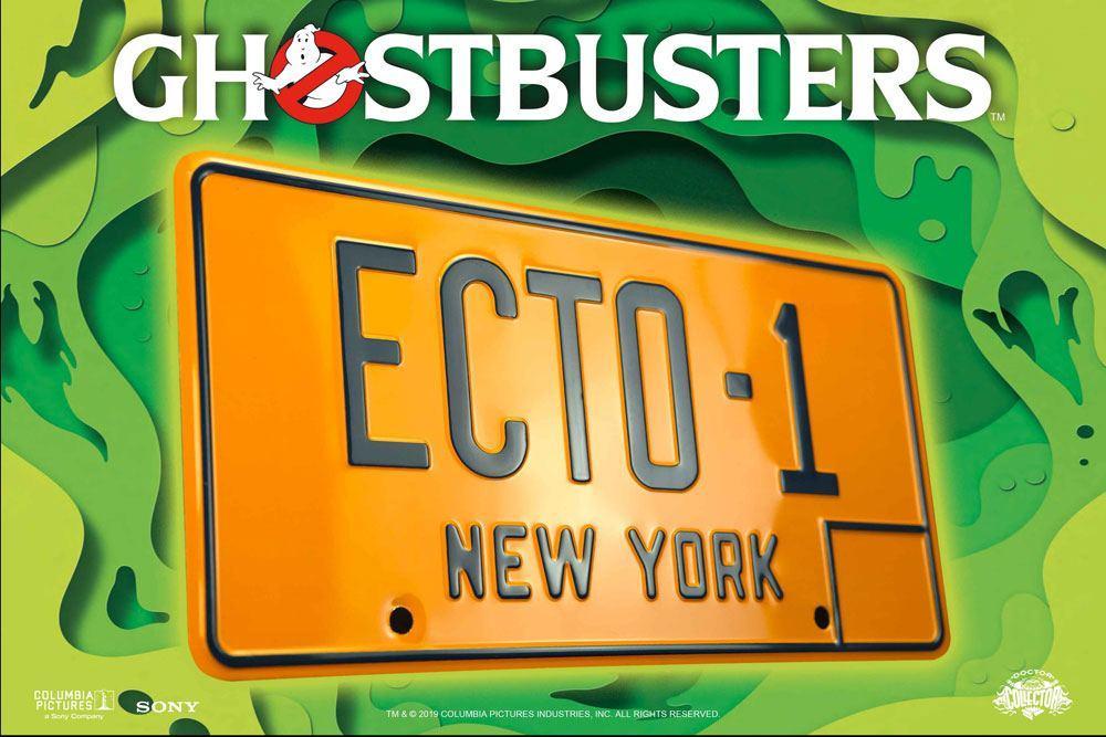 GHOSTBUSTERS - Plaque minéralogique ECTO-1 - Réplique 1/1_2