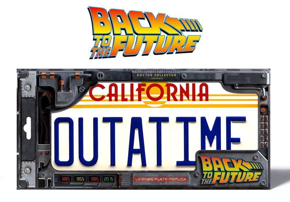 BACK TO THE FUTURE - Plaque minéralogique Outatime - Réplique 1/1_2