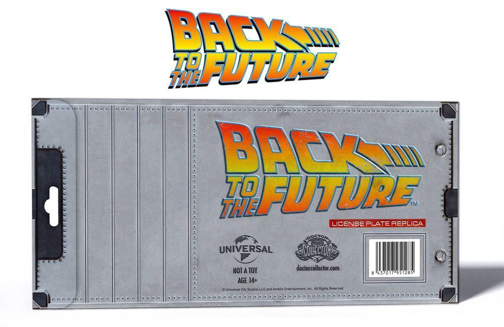 BACK TO THE FUTURE - Plaque minéralogique Outatime - Réplique 1/1_3