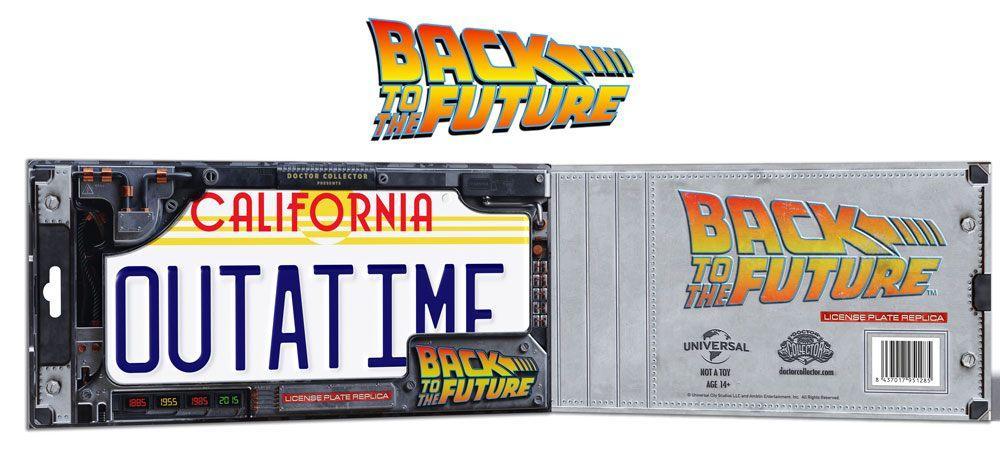 BACK TO THE FUTURE - Plaque minéralogique Outatime - Réplique 1/1_4