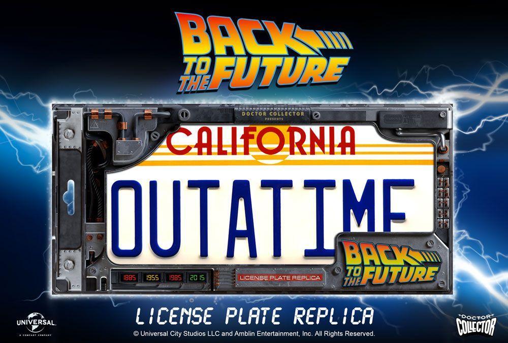 BACK TO THE FUTURE - Plaque minéralogique Outatime - Réplique 1/1_5