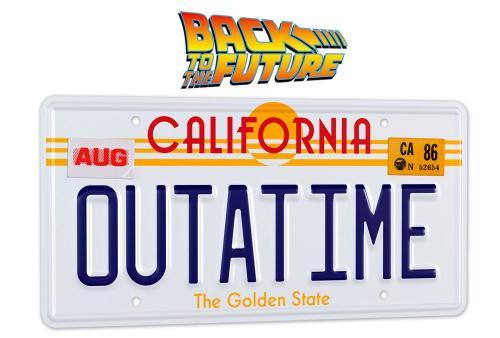 BACK TO THE FUTURE - Plaque minéralogique Outatime - Réplique 1/1