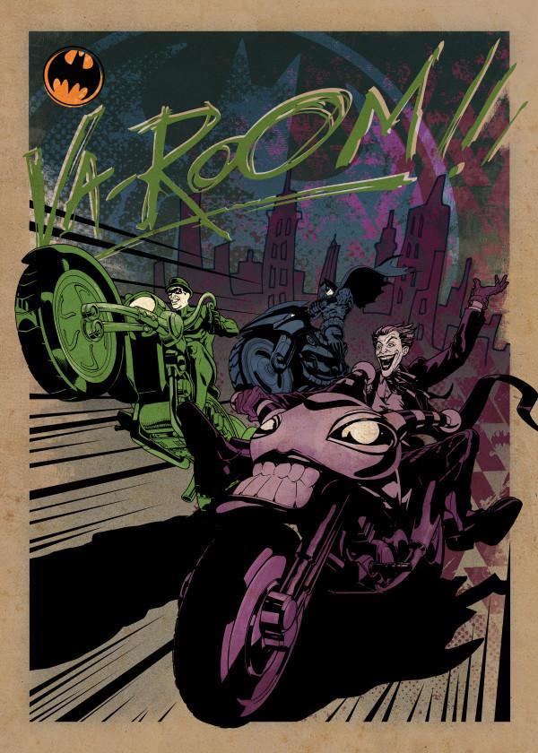 GOTHAM CITY MOTOR CLUB - Magnetic Metal Poster 45x32 - Gotham City MC