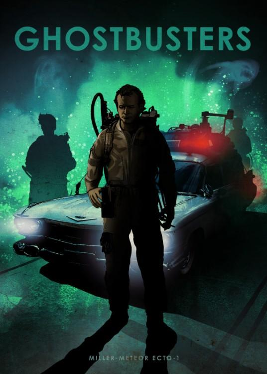 CAR LEGEND - Magnetic Metal Poster 45X32 - Ghostbusters
