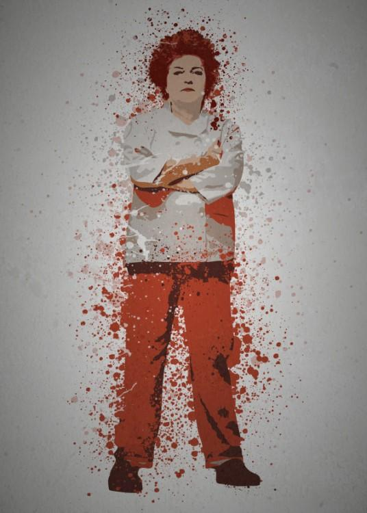 PC SPLATTER - Magnetic Metal Poster 45X32 - Red