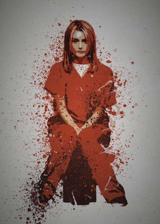 PC SPLATTER - Magnetic Metal Poster 45X32 - Inmate
