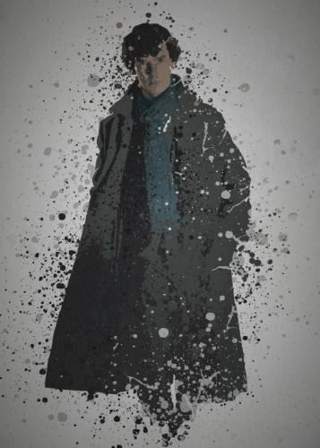 PC SPLATTER - Magnetic Metal Poster 45X32 - Detective