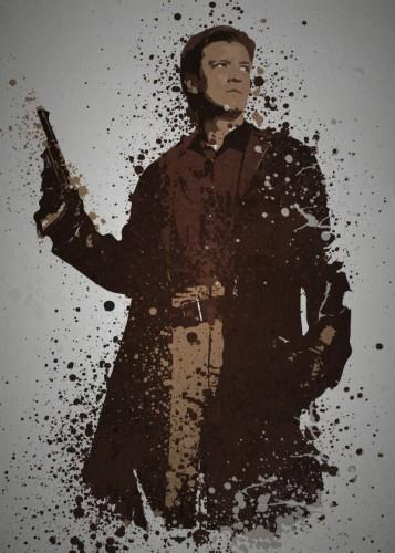 PC SPLATTER - Magnetic Metal Poster 45X32 - Space Cowboy