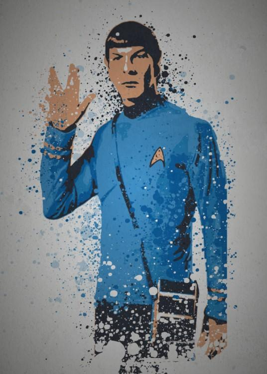 PC SPLATTER - Magnetic Metal Poster 45X32 - Live Long and Prosper