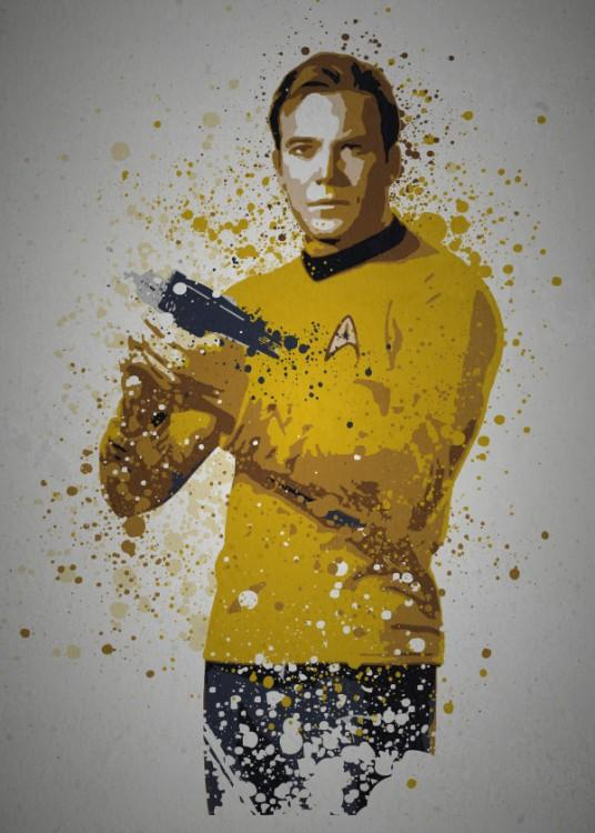 PC SPLATTER - Magnetic Metal Poster 45X32 - Boldly Go