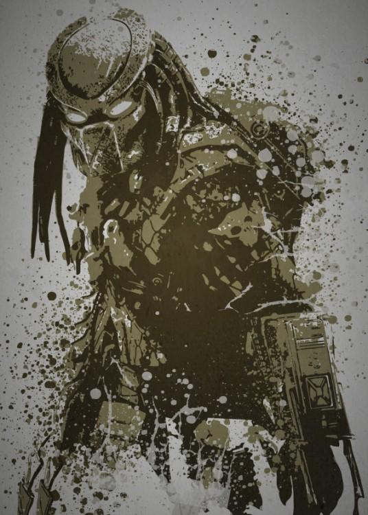 PC SPLATTER - Magnetic Metal Poster 45X32 - Predator