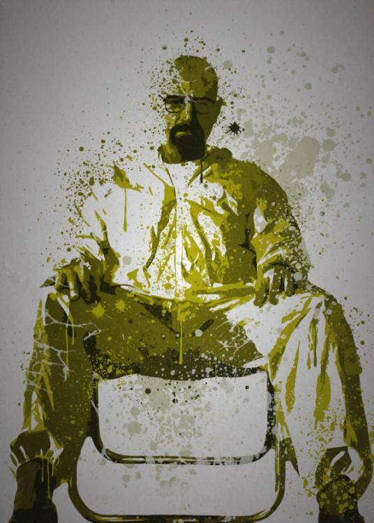 PC SPLATTER - Magnetic Metal Poster 45X32 - Heisenberg