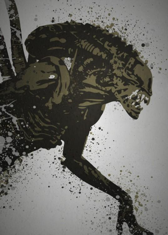 PC SPLATTER - Magnetic Metal Poster 45X32 - Alien