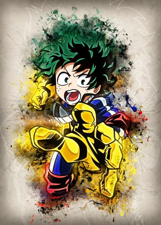 RAPTURE- Magnetic Metal Poster 45x32 - Midoriya