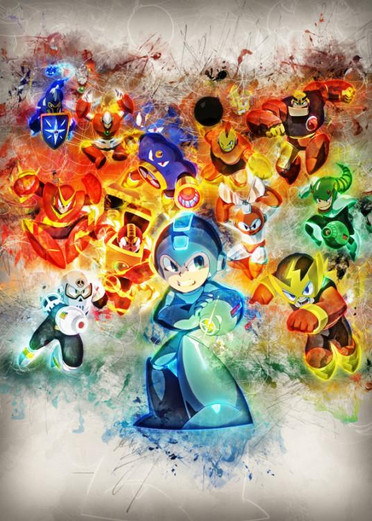 RAPTURE- Magnetic Metal Poster 45x32 - Mega Man