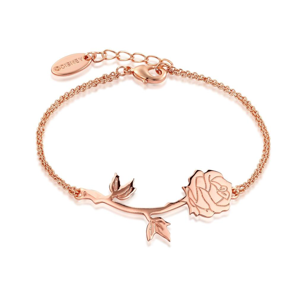 BEAUTY & THE BEAST - Rose Bracelet 'Rose Gold Plated'