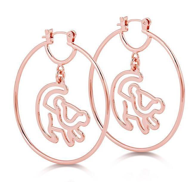 LION KING - Simba Hoop Earrings 'Rose Gold Plated'