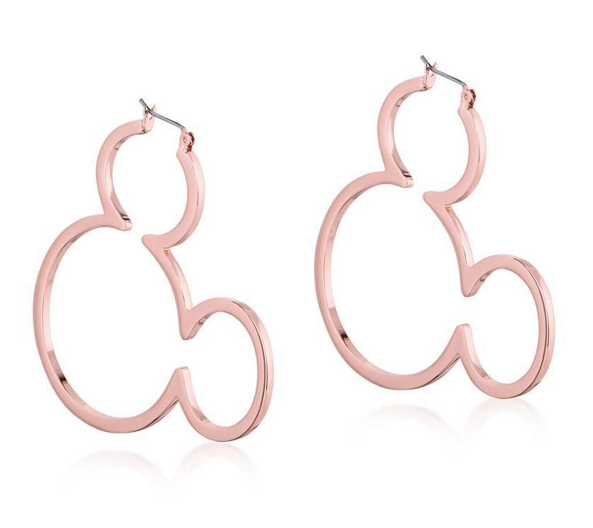 DISNEY MICKEY MOUSE - Outline Hoop Earrings 'Rose Gold Plated'