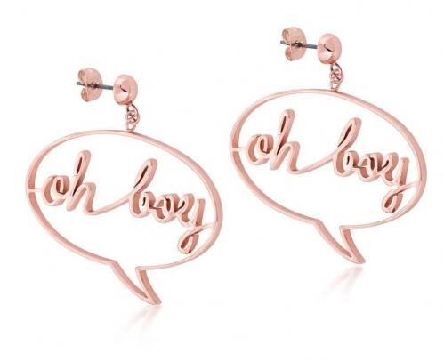 DISNEY MICKEY MOUSE - Oh Boy Earrings 'Rose Gold Plated'