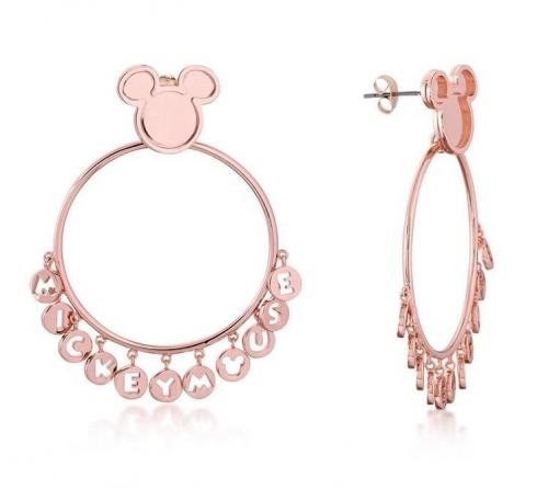 DISNEY MICKEY MOUSE - Word Earrings 'Rose Gold Plated'