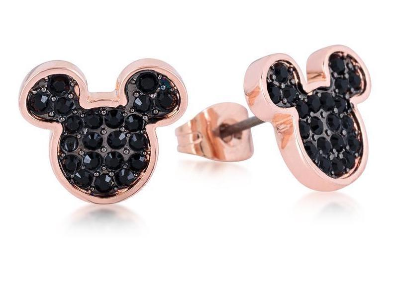 DISNEY MICKEY MOUSE - Stud Earrings B.Crystal 'Rose Gold Plated'