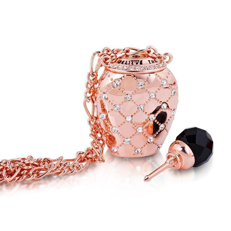 ALICE IN WONDERLAND - Bouteille de Potion Collier 'Rose Gold Plated'