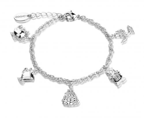 BEAUTY & THE BEAST - Charm Bracelet 'White Gold Plated'