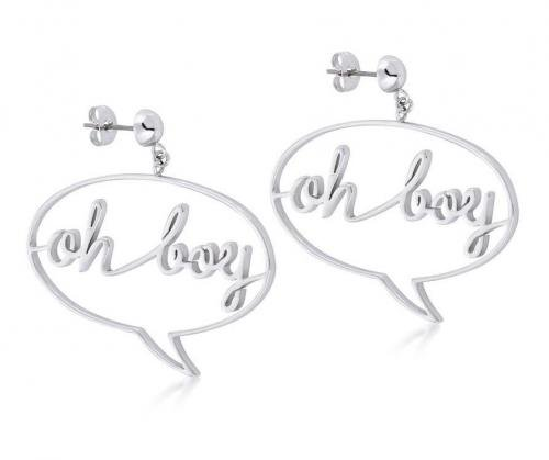 DISNEY MICKEY MOUSE - Oh Boy Earrings 'White Gold Plated'