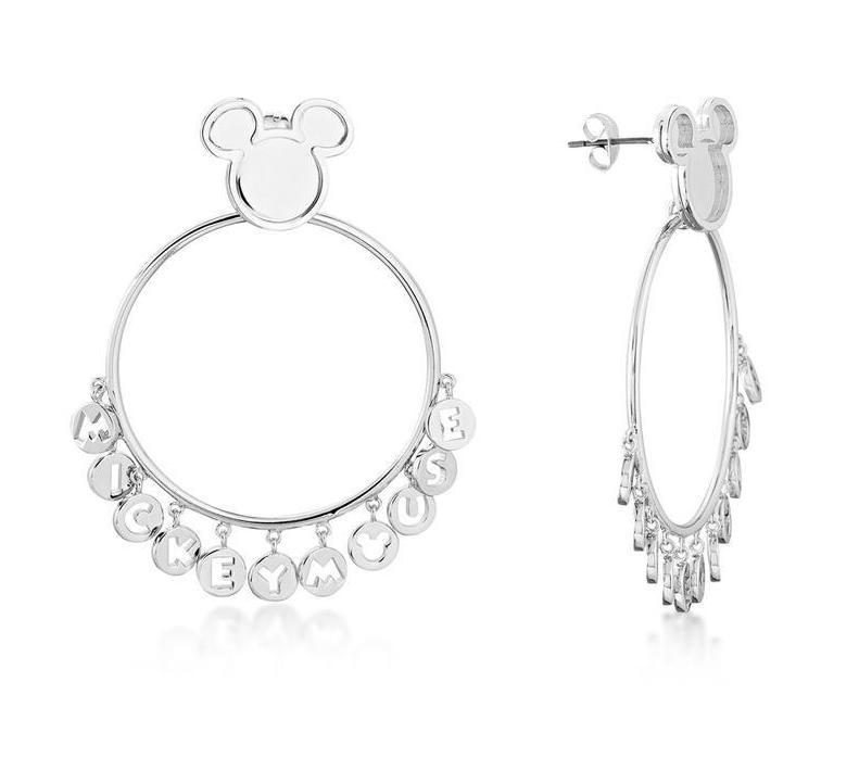 DISNEY MICKEY MOUSE - Word Earrings 'White Gold Plated'