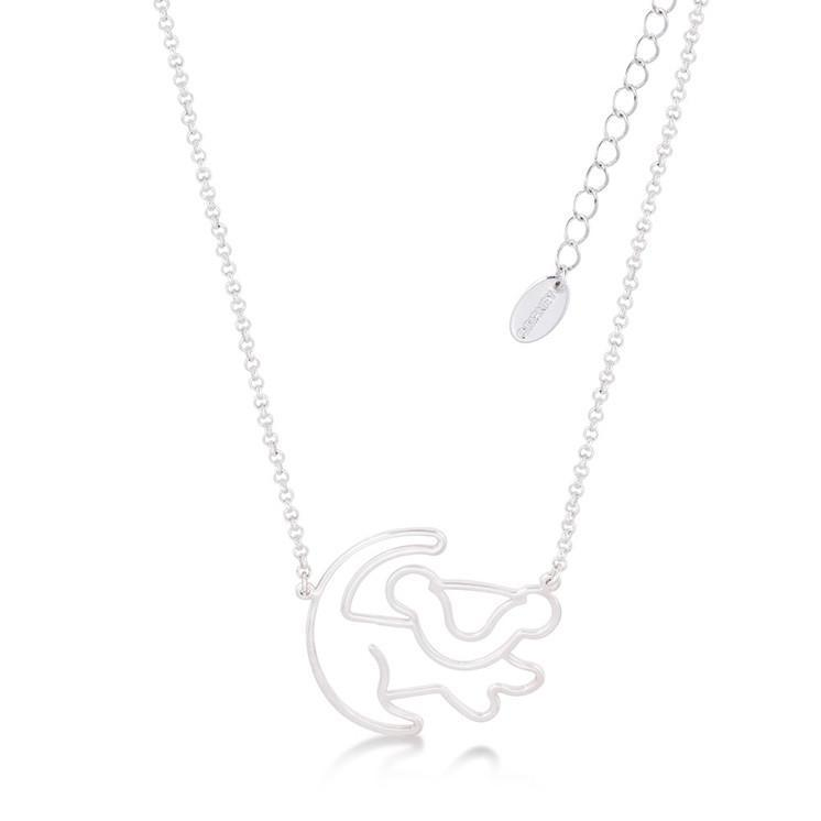 LION KING - Simba Necklace 'White Gold Plated'