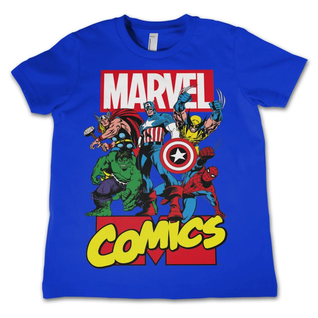MARVEL COMICS - T-Shirt KIDS Comics Heroes - Blue (10 Years)