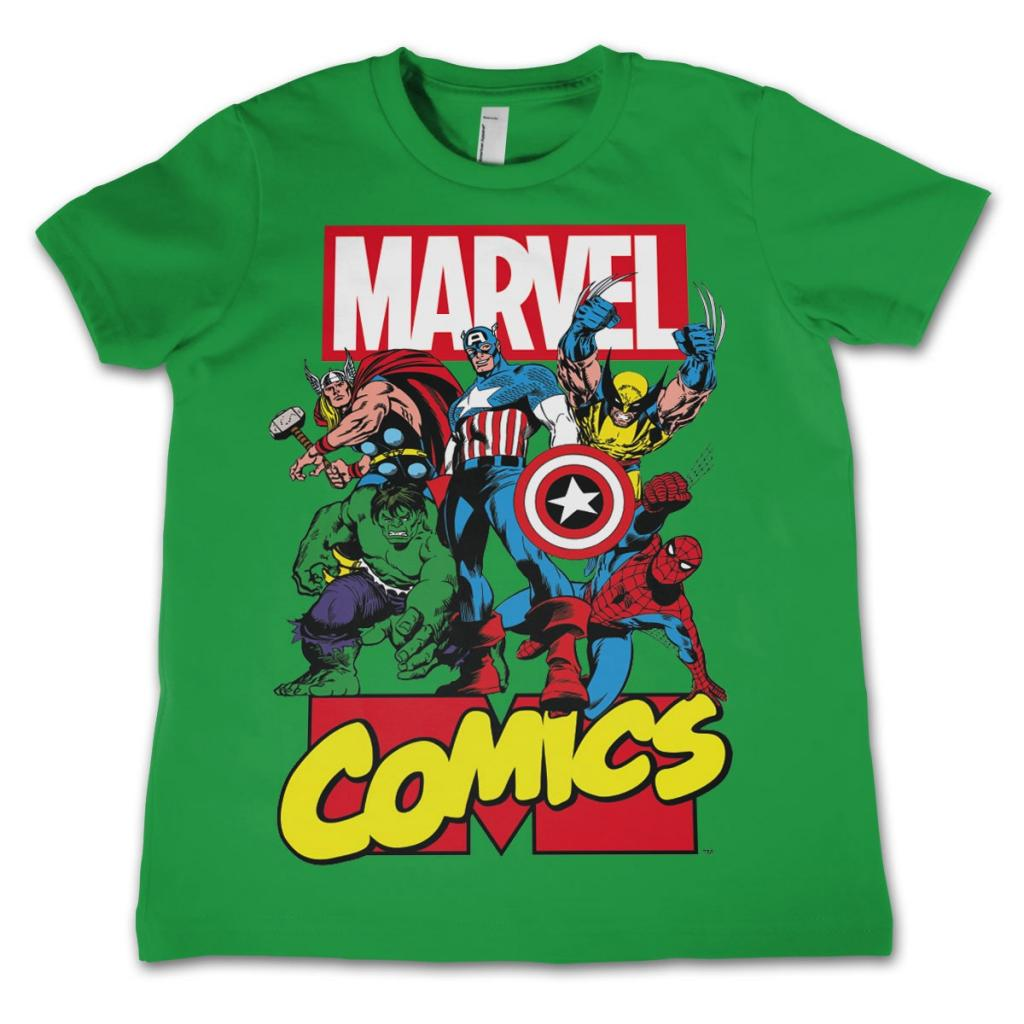 MARVEL COMICS - T-Shirt KIDS Comics Heroes - Green (10 Years)