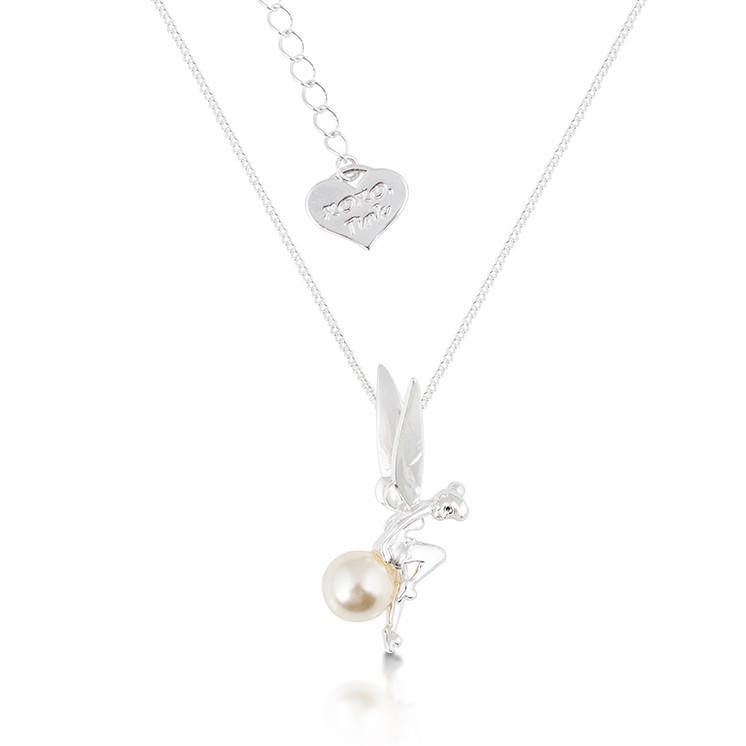 DISNEY TINKER BELL - Pearl Necklace 'White Gold Plated'_1