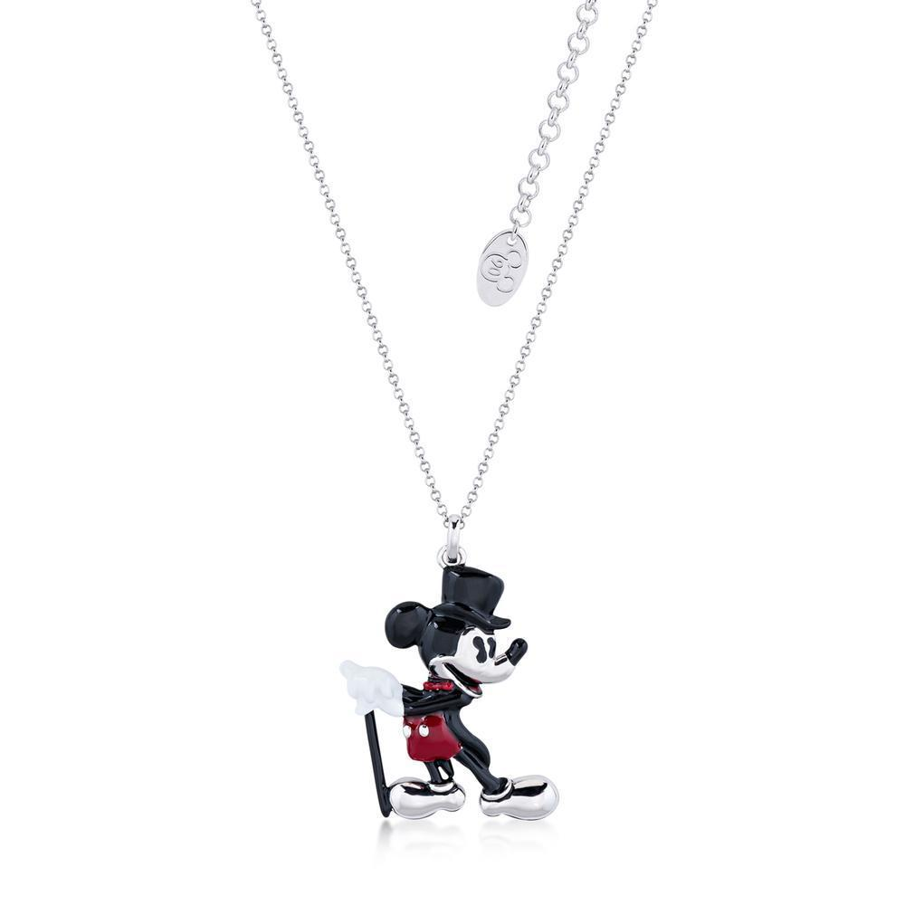 DISNEY MICKEY MOUSE - Showman Necklace 'White Gold Plated'