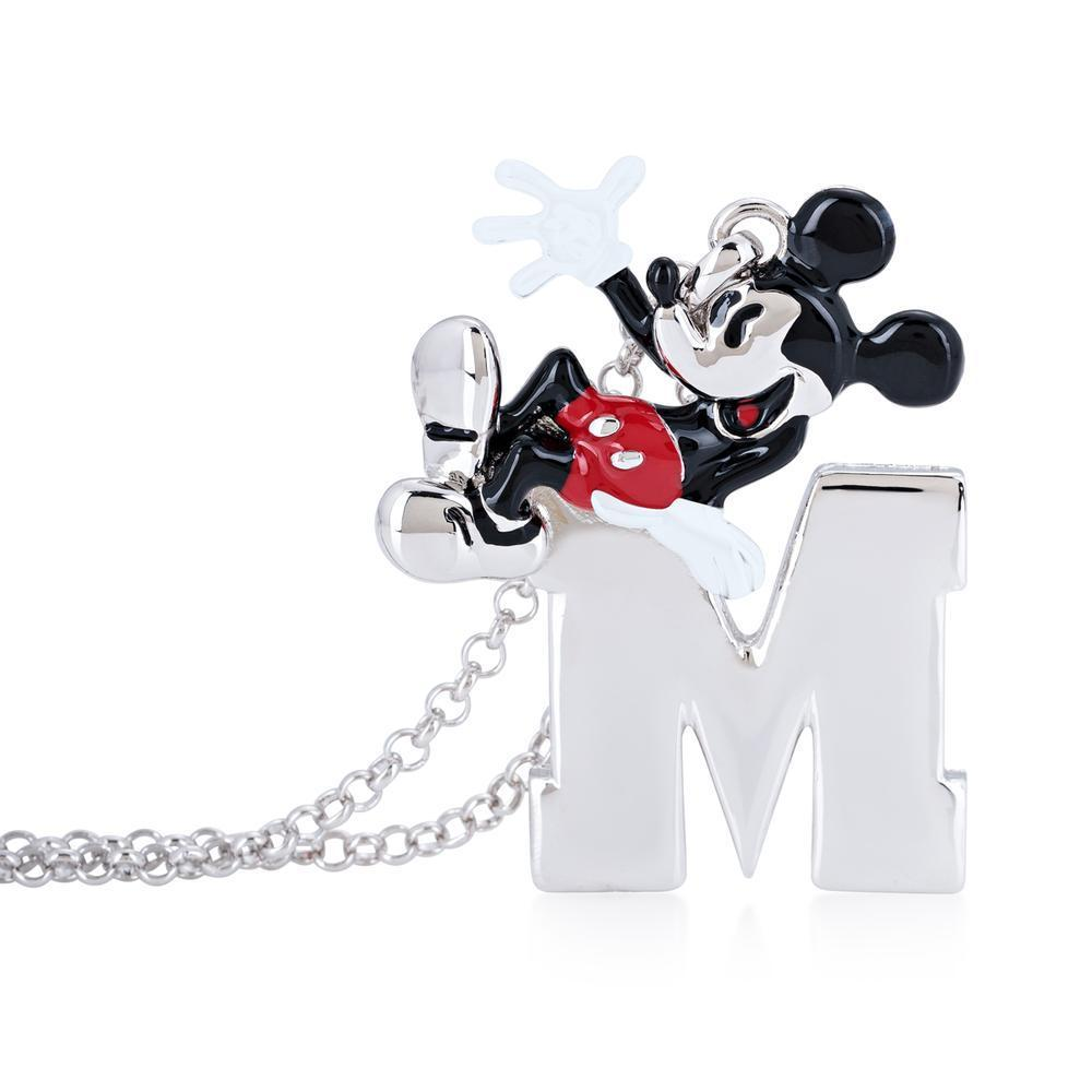 DISNEY MICKEY MOUSE - Collier M 'White Gold Plated'_3