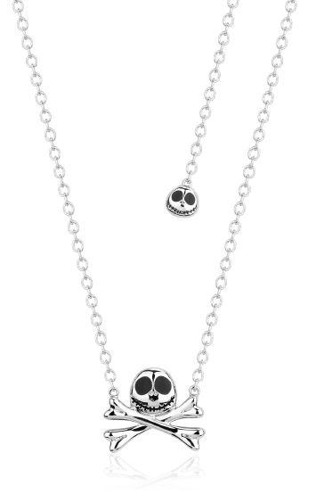 NIGHTMARE BEFORE XMAS - Collier Jack Skellington 'White Gold Plated'