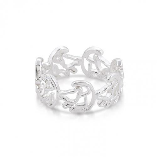 LION KING - Simba Ring 'White Gold Plated' (Size 6)
