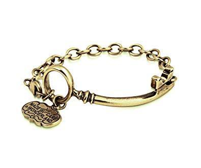 ALICE IN WONDERLAND - Bracelet Clé 'Yellow Gold Plated'