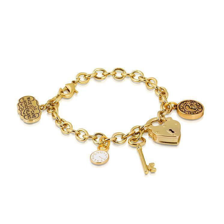 ALICE IN WONDERLAND - Bracelet Cadenas  'Yellow Gold Plated'